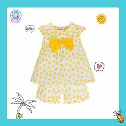 (bé 6-20kg) Bộ ngắn BG vải Nhật BN1159- HELLO BB (màu ngẫu nhiên)