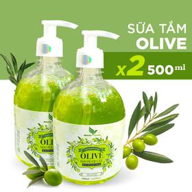 [Hỗ trợ FREESHIP] Combo 2 chai Sữa Tắm Oliu Dưỡng Ẩm Sáng Da Onemy Olive Shower Gel 500ml xuất Châu Âu - Onemy-2Oliu500