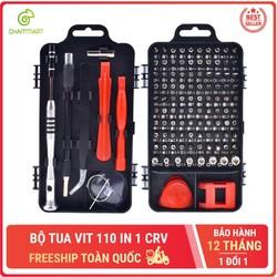 Bộ tua vít đa năng 110 in 1 CRV dụng cụ chuyên sửa chữa tháo lắp điện thoại laptop bỏ túi Chammart