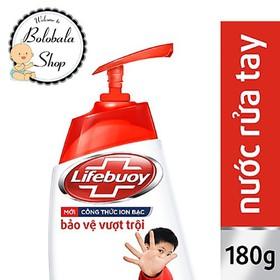 Nước Rửa Tay Lifebuoy Bảo Vệ Vượt Trội chai 180g chính hãng - SUARUATAY-LIFEBUOY-CHAI180G