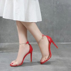 [NHIỀU MÀU] Giày cao gót quai trong, đế nhọn siêu sang