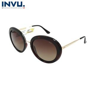 Kính mát nữ, kính mát unisex hiệu INVU chính hãng B1908 B (55-21-141) - B1908 B thumbnail