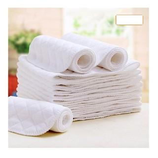 Tã 3 lớp sử dụng nhiều lần bằng vải cotton kích thước 45 16cm cho bé sơ sinh - taxo thumbnail