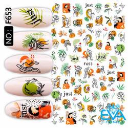 Miếng Dán Móng Tay 3D Nail Sticker Tráng Trí Hoạ Tiết Tranh Vẻ Nghệ Thuật F653