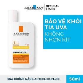 Kem chống nắng không gây nhờn rít SPF50+ UVB UVA dành cho da nhạy cảm dễ kích ứng La Roche-Posay Anthelios XL Fluid 50ml - 3337872414527