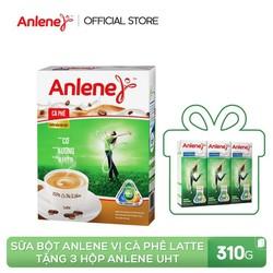 [Tặng 3 hộp sữa Anlene UHT] Hộp sữa bột ANLENE Vị Cà Phê Latte 310g (10x31g) dành cho người lớn trên 19 tuổi