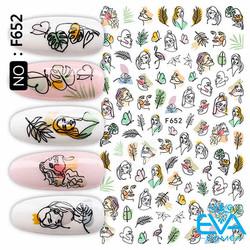 Miếng Dán Móng Tay 3D Nail Sticker Tráng Trí Hoạ Tiết Tranh Vẻ Nghệ Thuật F652