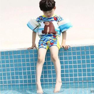 Bộ phao liền tay liền ngực cho bé - bộ phao cho bé tập bơi - Áo phao bơi - Áo phao bơi thumbnail