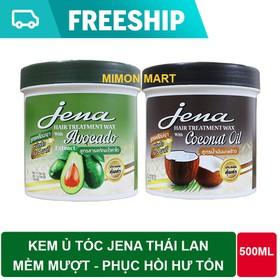 Combo 2 hũ Kem ủ tóc bơ - dừa Jena Thái Lan 500ml mềm mượt phục hồi hư tổn - 2Ủ TÓC JENA
