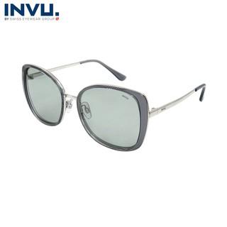 Kính mát nữ, kính mát unisex hiệu INVU chính hãng B1907 C (55-18-140) - B1907 C thumbnail
