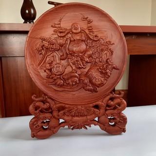 Tranh đĩa gỗ hương Phật Di Lặc đế Trúc - TDG05 thumbnail