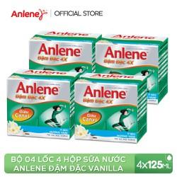 Combo 4 lốc sữa nước Anlene Concentrate Vanilla 4x125ml
