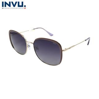 Kính mát nữ, kính mát unisex hiệu INVU chính hãng B1018 (58-18-144) - B1018 thumbnail
