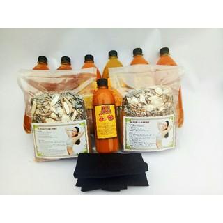 3 muối thảo dược 2 lit gừng nghệ hạt gấc và 5 túi lá xông sản phụ - 015 thumbnail