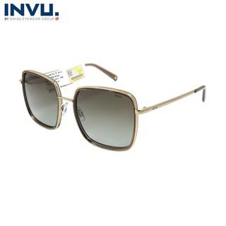Kính mát nữ, kính mát unisex hiệu INVU chính hãng T1006 B (56019-145) Vàng - T1006 B thumbnail
