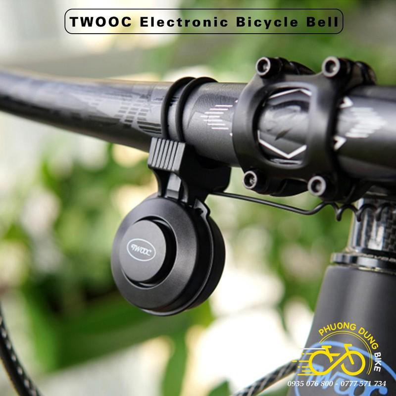 Còi kèn điện cao cấp xe đạp TWOOC T002S sạc usb – 4 âm hú – PK-01401