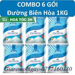 COMBO 6 gói đường Biên Hòa Trắng tinh luyện 1KG