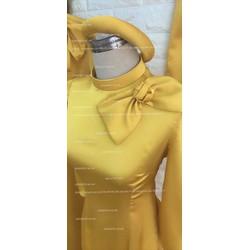 bê quả bê tráp nữ vàng đông satin 12 bộ sang trọng