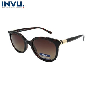 Kính mát nữ, kính mát unisex hiệu INVU chính hãng B2938 B (53-20-140) Đồi mồi - B2938 B thumbnail