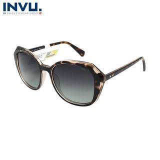 Kính mát nữ, kính mát unisex hiệu INVU chính hãng B2931 B (54-19-140) Đồi mồi - B2931 B thumbnail