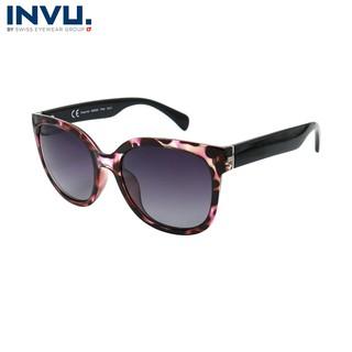 Kính mát nữ, kính mát unisex hiệu INVU chính hãng B2900 C (55-19-140) Đen - B2900 C thumbnail