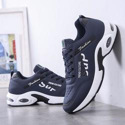 Giày thể thao nam da buộc dây đế êm chân lót thoáng khí