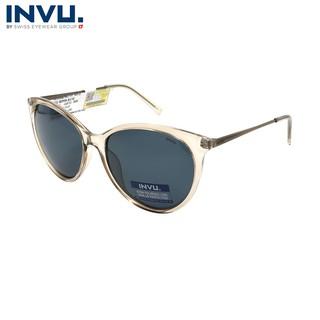 Kính mát nữ, kính mát unisex hiệu INVU chính hãng B2908 B (56-16-140) Kem - B2908 B thumbnail