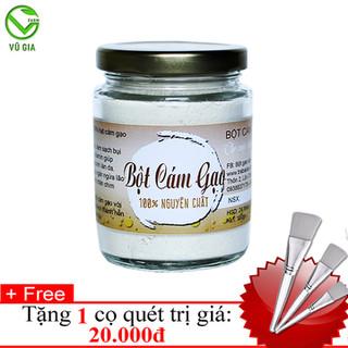 Bột Cám Gạo Nguyên Chất VG Farm [100gr-hũ] + Tặng Cọ Quét Mặt Nạ_Đã được kiểm nghiệm y tế - BCG100+CQ thumbnail