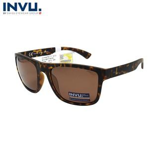 Kính mát nữ, kính mát unisex hiệu INVU chính hãng B2919 B (56-20-140) Đồi mồi - B2919 B thumbnail