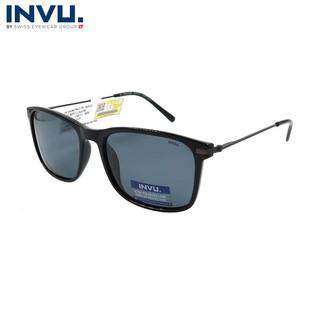 Kính mát nữ, kính mát unisex hiệu INVU chính hãng B2911 A (56-18-140) Xám đen - B2911 A thumbnail