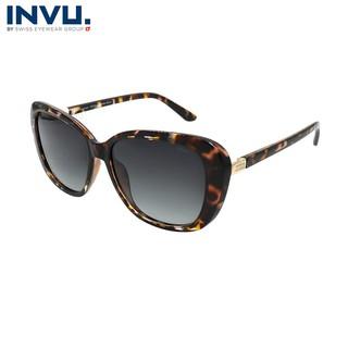 Kính mát nữ, kính mát unisex hiệu INVU chính hãng B2906 B (55-15-140) Đồi mồi cam - B2906 B thumbnail
