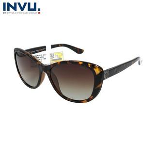 Kính mát nữ, kính mát unisex hiệu INVU chính hãng B2905 (57-16-140) Đồi mồi - B2905 thumbnail