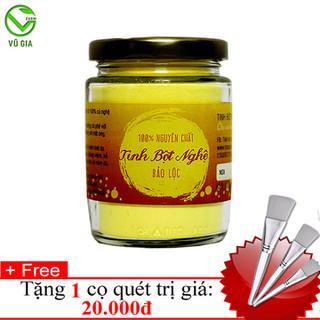 Tinh Bột Nghệ Nguyên Chất VG Farm [100gr-hũ] + Tặng Cọ Quét Mặt Nạ_Đã được kiểm nghiệm y tế - TBN100+CQ thumbnail