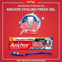 Kem đánh răng cho Răng nhạy cảm Anchor Cooling Fresh Gel - 150g Thương Hiệu Anh Quốc tặng kèm bàn chải