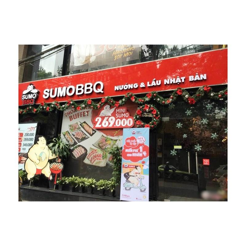 [Toàn Quốc] Giảm giá sốc 02 Evoucher có giá trị 100k sử dụng như tiền mặt tại Hệ thống SUMO BBQ – Sumo100k