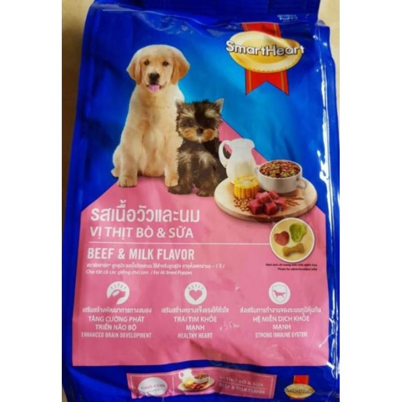 Thức ăn Smartheart – vị thịt bò,sữa cho chó con – 400gr – Smartheart puppy