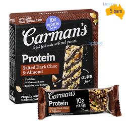 Thanh Protein Socola Đen Và Hạnh Nhân hiệu Carman's 200g