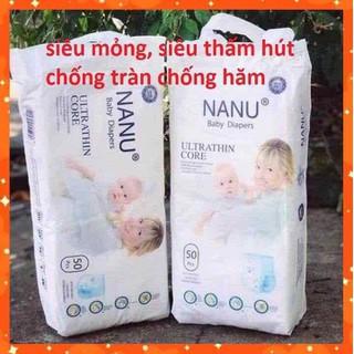 Combo 50 miếng bỉm quần Nanu Baby size M L XL XXL - Bim03 thumbnail