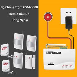 Thiết Bị Chống Trộm Amos GSM-3500 + Tặng Kèm 2 Đầu Dò Hồng Ngoại