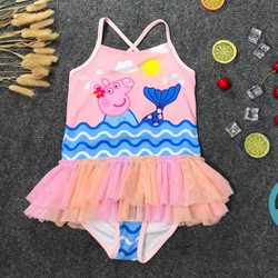 Đồ bơi bikini liền váy heo peppa siêu dễ thương cho bé gái