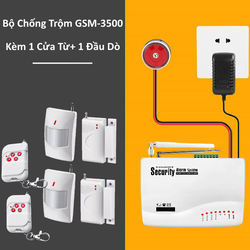 Thiết Bị Chống Trộm GSM-3500 + 1 Đầu Dò Hồng Ngoại + 1 Kiểm Soát Cửa