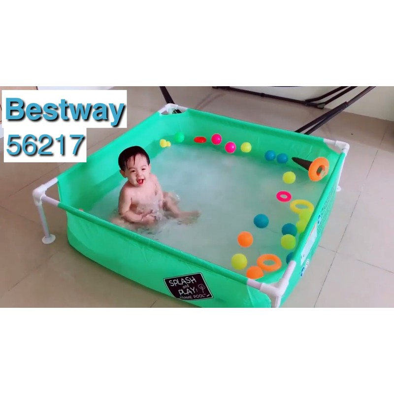 Bể Bơi Lắp Ghép Vuông Cho Bé Yêu Kích Thước 1.22m x 1.22m x 30.5cm – bw56217