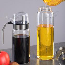 Bình đựng nước mắm, dấm, dầu ăn và gia vị dạng nước khác LDGV03-300-500ml bằng thủy tinh có nắp đạy thông minh