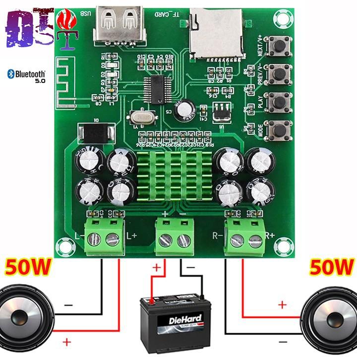 Mạch khuếch đại âm thanh 2x50W Bluetooth 5.0
