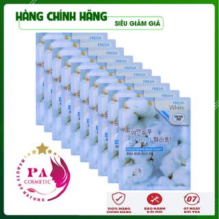 [Hàng Nhập Khẩu Hàn Quốc] Combo 10 túi mặt nạ dưỡng da - Mặt nạ giấy trắng da tuyết 3W Clinic Hàn Quốc 23ml x 10 - MNDDT3W02 thumbnail