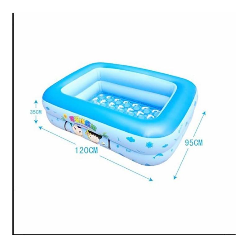 Bể Bơi Trẻ Em 2 Tầng – Kích Thước 120cm x 95cm x 35cm – BeBoi
