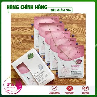 [Hàng Nhập Khẩu Hàn Quốc] Combo Hộp 10 Túi Mặt nạ dưỡng da - Mặt nạ giấy Collagen làm căng & trắng da Holikey Hàn Quốc 25mlx10 - MNDDCLGHLK03 thumbnail