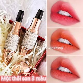 Thỏi son 3 màu AGAG dưỡng ẩm màu sắc thời trang - Thỏi son 3 màu AGAG dưỡng ẩm màu sắc thời tra thumbnail