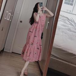 váy bầu – đầm bầu thời trang xuông a 2 giây sọc