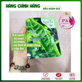 [Hàng Nhập Khẩu Hàn Quốc] Combo 10 Túi Mặt nạ dưỡng da - Mặt nạ giấy trị mụn chiết xuất trà xanh 3W Clinic Hàn Quốc 23mlx10 - MNDDTX3W01 thumbnail